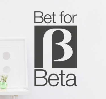 Vinilo Bet for Beta