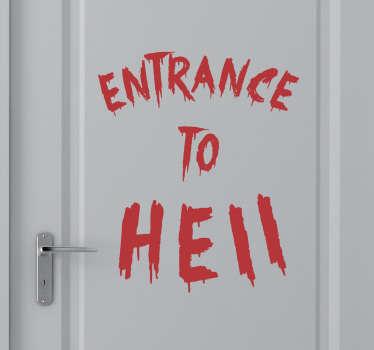 Vinil assustador entrance to hell