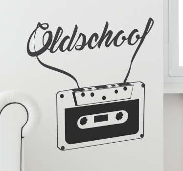 Bring back a sense of the 80s with this retro cassette tape wall sticker. This wall sticker is perfect for bringing a retro feel to your homes