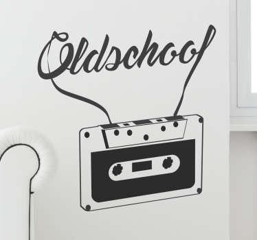 Naklejka ścienna Oldschool kaseta