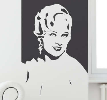 Muursticker Mae West Silhouet