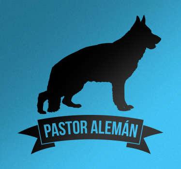 Pegatina perro pastor alemán