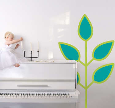 Kids Green Leaves Branch Wall Sticker
