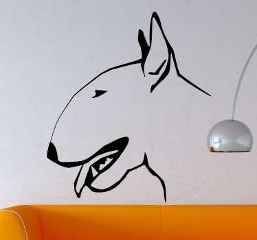 Adesivo decorativo profilo bull terrier