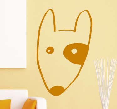 Sticker amusant Bull Terrier