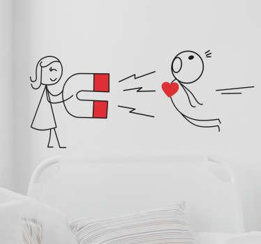 Dekoracja ścienna Magnetyczne serce