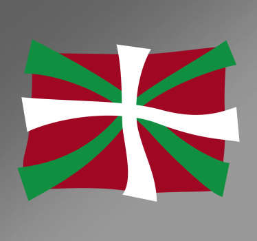 Sticker drapeau Pays basque