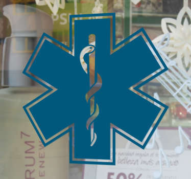 Autocolante decorativo símbolo farmácia