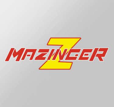 Pegatinas de Mazinger Z, con una reproducción del logotipo de tu serie favorita de dibujos animados.