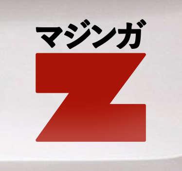 Pegatinas Mazinger Z, con una reproducción del logo en japonés de tu serie favorita de animación, pensadas para decorar ese rincón friki.
