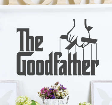 sticker texte the Goodfather