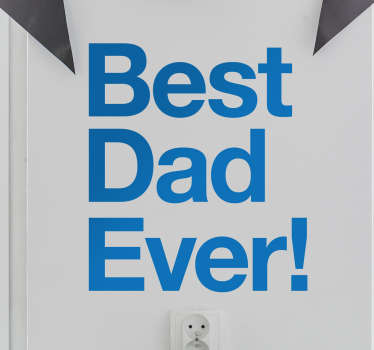 Best Dad Wall Sticker