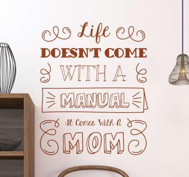 Sorprendi tua madre il giorno del suo compleanno o per la festa della mamma con un adesivo divertente in inglese.
