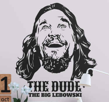 The Dude portret dekoracja