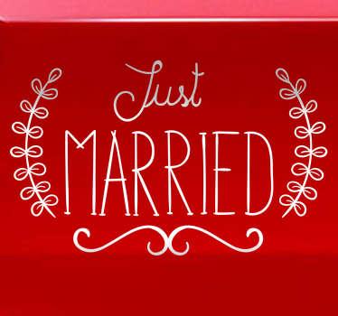 Muursticker Just Married