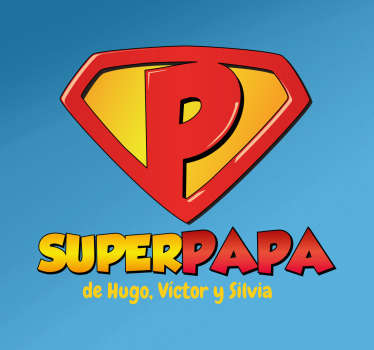 Sticker superpapa personnalisable