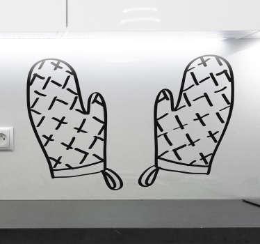 烤箱手套厨房贴纸