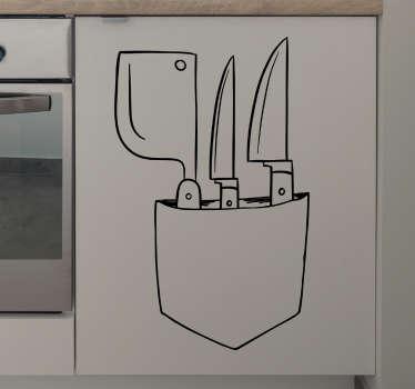 Vinil autocolante bolso cozinheiro