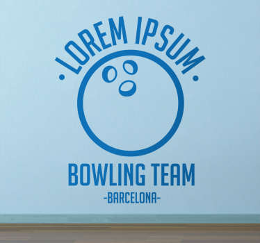 Wandtattoo Bowling Team