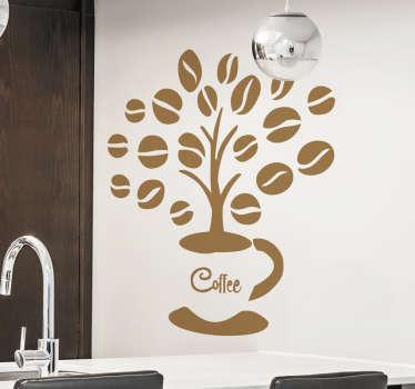 Vinilo decorativo árbol cafetero