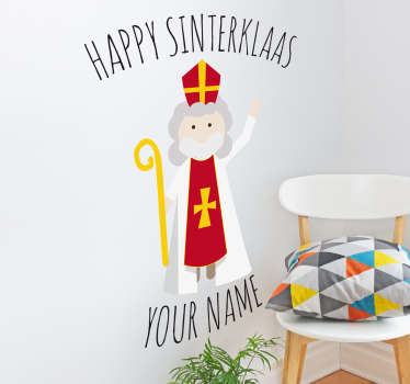 Muursticker Happy Sinterklaas