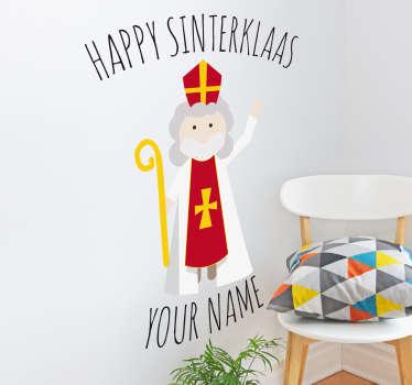 Muursticker Happy Sinterklaas
