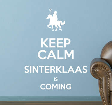 Muursticker Keep Calm Sint