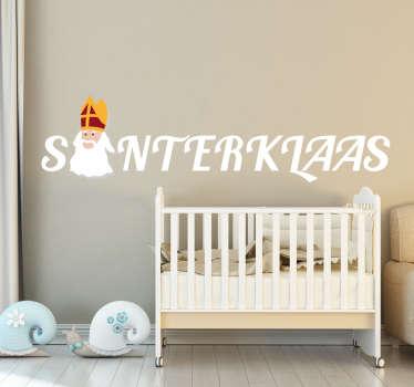 Muursticker Sinterklaas