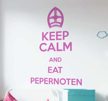 Muursticker Keep Calm and Eat Pepernoten