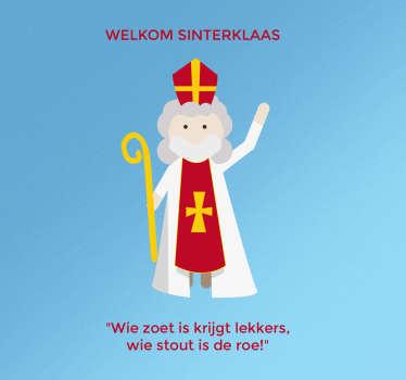 Muursticker Welkom Sinterklaas Liedje