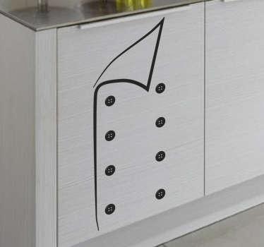 Dekoracja ubranie szefa kuchni