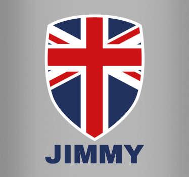 Aufkleber Union Jack personalisiert