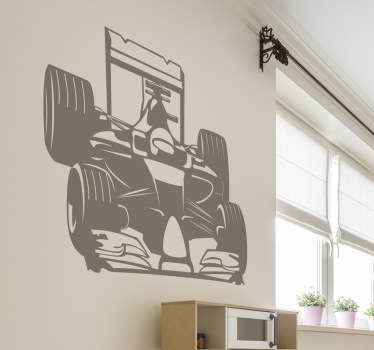 This Formula 1 wall sticker is perfect for you. The wall sticker consists of a Formula 1 racing car with driver