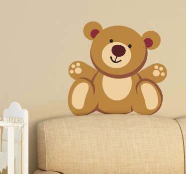 This children's wall decal of a teddy bear will melt your heart. The wallsticker consists of a cute teddy bear who smiles kindly.