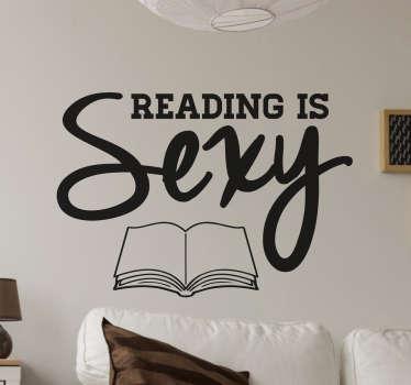 Naklejka ścienna Reading is sexy