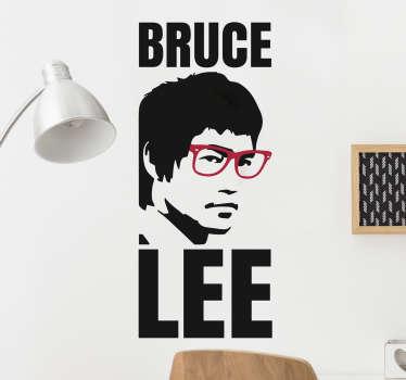 Adesivo nerd Bruce Lee