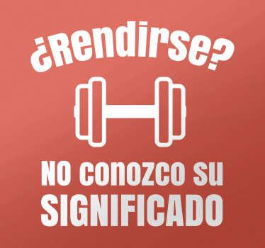 Vinilos motivacionales de fitness y culturismo para cualquier habitación de tu casa o para salas de gimnasio.
