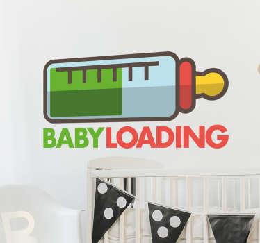 sticker baby loading