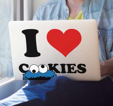 I love Cookies Laptop Sticker