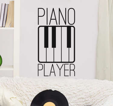 Piano Player Wall Sticker