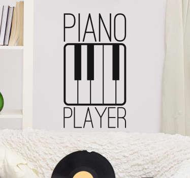 Vinilo decorativo piano player