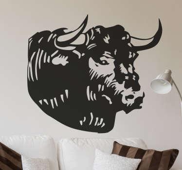 Adesivo murale toro