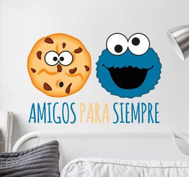 Pegatinas del Monstruo de la galletas para decorar con propiedad y alegría cualquier rincón liso de tu casa.