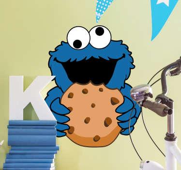 Naklejka Triky ciasteczkowy potwór ulica sezamkowa