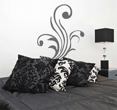 Wall Stickers - Ornamental floral design of three stalks. Create a pleasing and balanced composition in any room