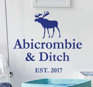 Du hast dein Abitur in der Tasche? Dann hole dir dieses coole Wandtattoo Abicrombie & Ditch!