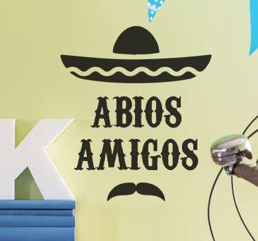 Du hast gerade dein Abitur gemacht? Dann feiere deinen Erfolg und hole dir dieses coole Wandtattoo Abios Amigos!