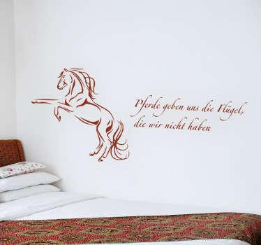 Wandtattoo Pferde geben uns Flügel