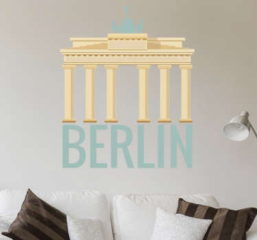 Brandenburg Gate Berlin Wall Sticker, a nice wall decoration of one of the most beautiful and historical monuments in the German capital.
