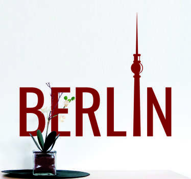 This wall sticker consists of the name of the capital city of Germany, Berlin.